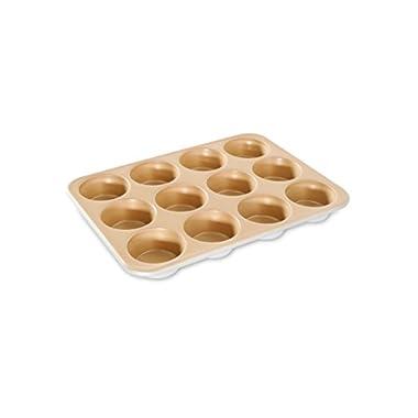 Nordic Ware Naturals Aluminum NonStick Muffin Pan, Twelve 2-1/2 Inch Cups