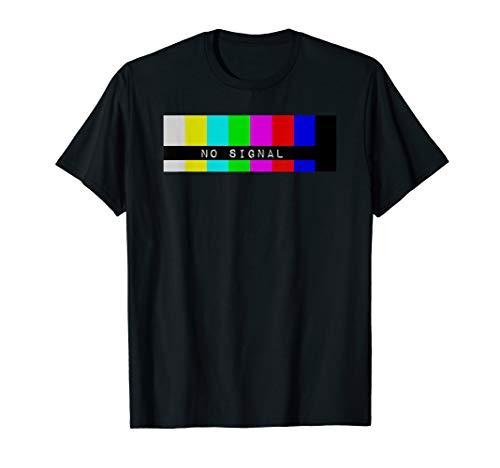 Kein Signal Fernsehen Schnee Bildschirm TV Testmuster T-Shirt