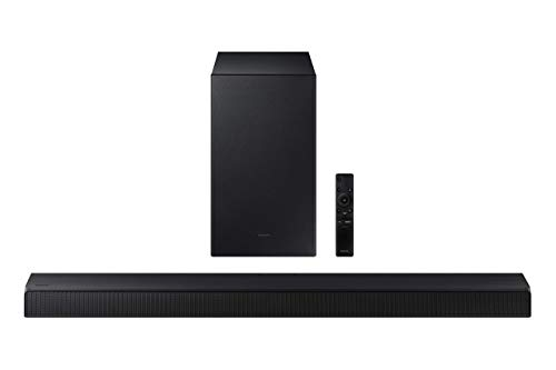 Samsung - 2.1-Channel Soundbar with Wireless Subwoofer and Dolby Audio - Black (Renewed)