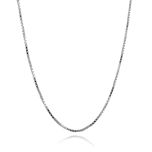 FashionJunkie4Life Extra Long Sterling Silver 1.2mm Box Chain Link Necklace - 32', 34', or 38' (34)