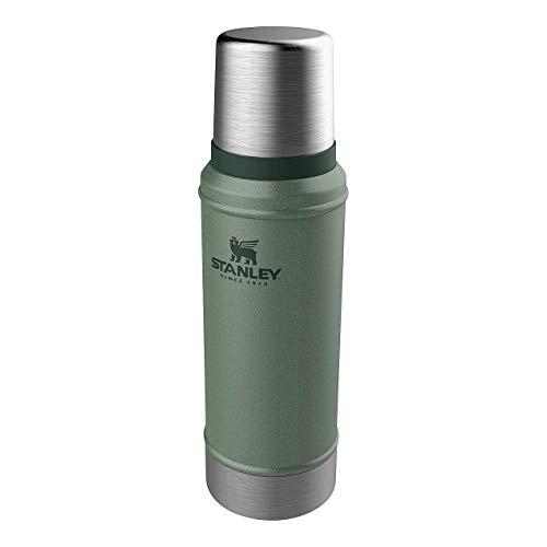 Stanley Legendary Classic Vakuum-Thermoskanne, 0.75 Liter, Hammertone Green, 18/8 Stainless Edelstahl, Integrierter Thermobecher, Doppelwandige Isolierung Isolierflasche Isolierkanne Kaffeekanne
