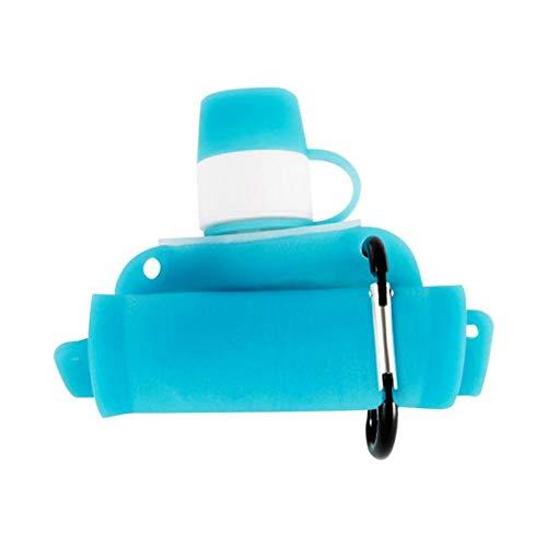 CGMZN Wasserglasbeutel Tragbare kreative Glas Wasserflasche Sport Outdoor Travel Fahrrad Fruchtsaft Geschenk Wasserkocher mit Silikon Gel Abdeckung