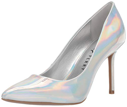 Katy Perry Women's The Sissy Pump, silver, 6 Medium US