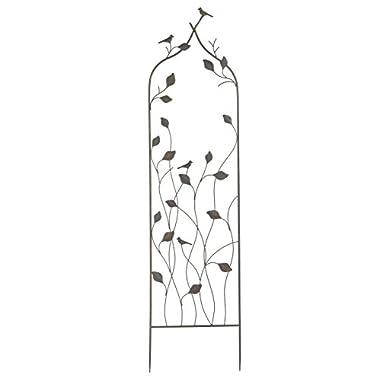 Napco Metal Leaf Vine and Birds Trellis, 62