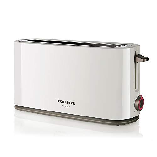 Taurus My Toast Tostadora de Ranura Larga y Extra Ancha, Plástico, Multicolor