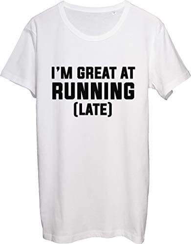 Maglietta da uomo con scritta I'm Great at Running Late I'm...