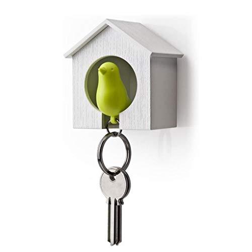 Forbestest Kunststoff-Vogelhaus-Schlüsselring-Haken der Wand befestigte Keychain Halter Key Hanger Zubehör
