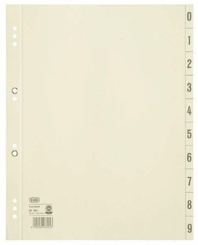 ELBA 400004664 Trennblätter aus Recycling-Kraftkarton für DIN A4 100er Pack Lochung 6 und 8 cm geöst chamois Trennlaschen Trennblätter Ordner Register Kalender Blauer Engel