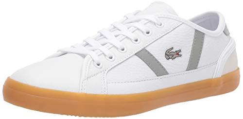Lacoste Women's Sideline Sneaker, White/Grey, 6.5 Medium US