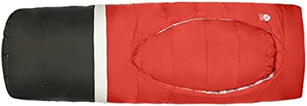 Sierra Designs Frontcountry Bed: Zipperless 20 Degree Synthetic Sleeping Bag, Regular Red/Black