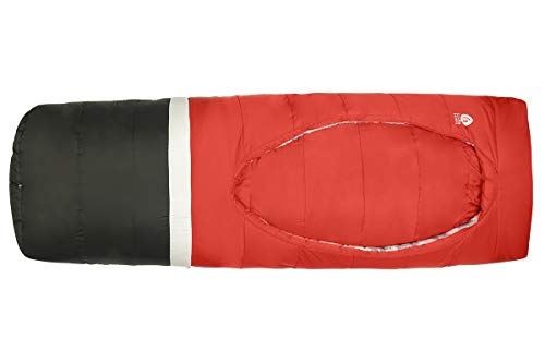 Sierra Designs Frontcountry Bed: Zipperless 20 Degree Synthetic Sleeping Bag, Regular Red/Black