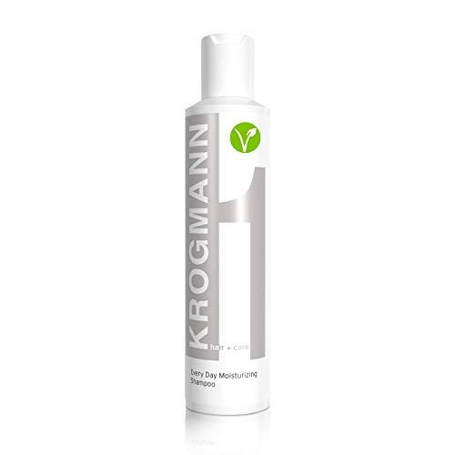 KROGMANN Every Day Moisturizing Shampoo 1, feuchtigkeitsspendendes Haarshampoo für die tägliche Anwendung, seidiger Glanz & Kraft, sanfte Vitamin-Pflege für die Kopfhaut, 200 ml