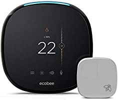 ecobee4 Alexa-Enabled Thermostat with Sensor (Works with Amazon Alexa)