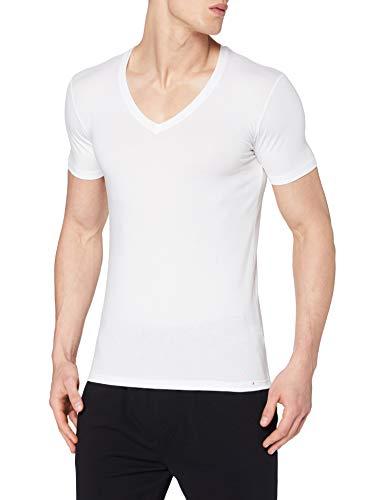 CALIDA Herren T-Shirt Evolution Unterhemd, Weiß (Weiss 001), Large (Herstellergröße: L = 52/54)
