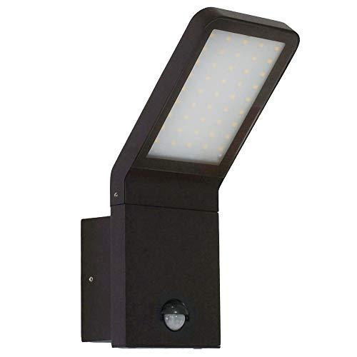 LED Außenwandleuchte mit Bewegungsmelder Außenlampe Wandleuchte Flurleuchte Badleuchte Schwarz 10W 695 Lumen Variante 337A1