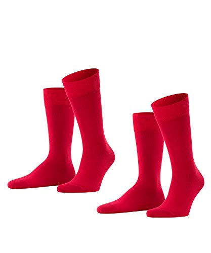 FALKE Herren Happy 2-pack M Socken, Rot, 47-50 EU