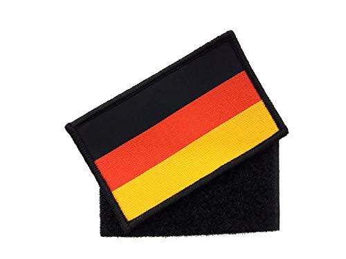 generisch 1 x Deutschland Patch ca.8cm x 5cm Aufnäher mit Klettverschluss Bundeswehr Flagge Armee Aufbügler