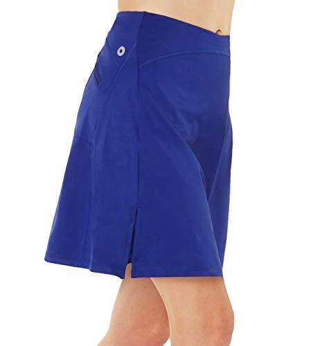 Westkun Falda de Golf Tenis Skort Mujer Negra Negra Pantalón Ropa Padel Running Corta Moda Deportivas Short(Azul,XL)