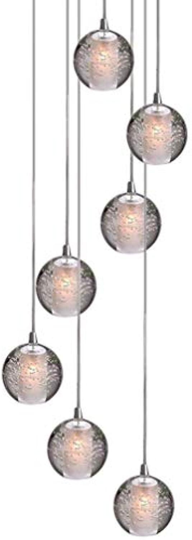 LED Modern Pendelleuchte, K9 Kristall Kugel Kreative Kronleuchter, Hochwertigem Innen Dekoration Hngelampe, Schn Wohnzimmer Leuchte Schlafzimmer Lampe Restaurant Lichter 7 G4 (7-Flammig)