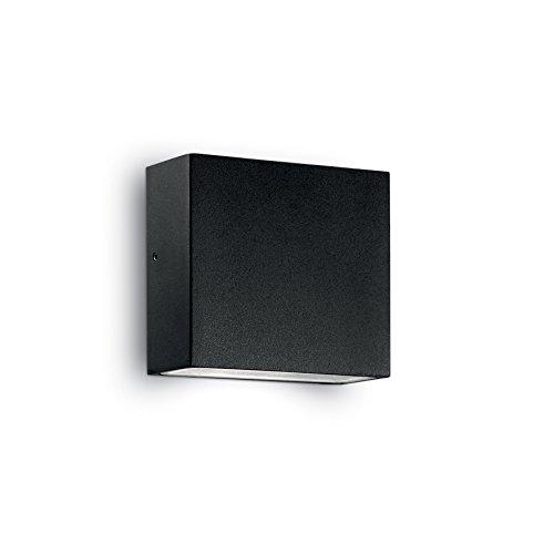 L'Aquila Design Arredamenti Ideal Lux Lampe murale Tetris1 Lumière blanche Monture noire en aluminium TETRIS1-AP1-NOIR