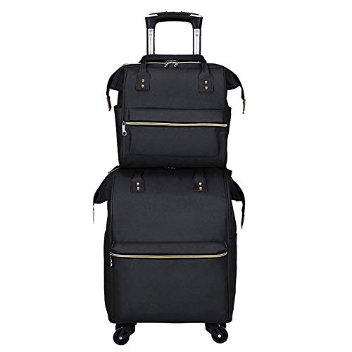 Buy Discount FANQIECHAODAN Double Shoulder Trolley Bags Trolley Backpack Large Capacity Travel Bag O...