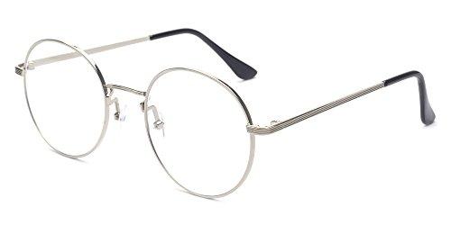 Montura de gafas Outray B136, estilo retro, Metal, cristales sin graduación