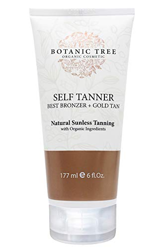 Botanic Tree Self Tanner-Organic Sunless Tanner for Natural-Looking Fake Tan-Herbal Self Tanning Lotion for Flawless Bronzer Skin-Instant Face and Body Tanner for Fair and Dark Skin.