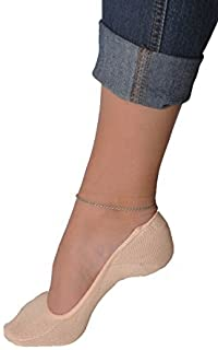 Women's 3 Pairs & 6 Pairs Truly No Show Liner Socks ~ Low Cut Invisible Anti Slip Socks ~ For Flats By Juccini