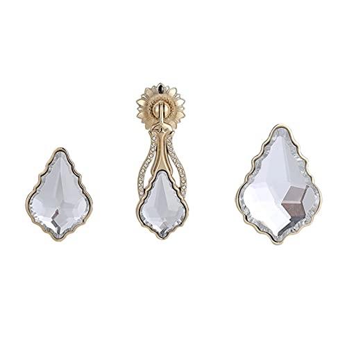 paritariny Push Pull Manija, Manijas de la Puerta Accesorios de Cocina de Cristal Gabinetes Perillas Diamante Manija Muebles Manejar Tiradores (Color : 4181-Small)