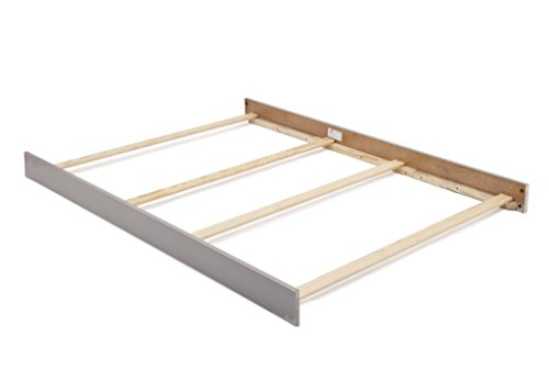 Full Size Conversion Kit Bed Rails for Baby Cache Vienna Crib (Ash Grey)