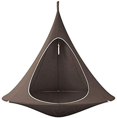 Teepee Tree Pod Kids Baby Swing Hammock Children Camping Chair Indoor Outdoor Hanging Chairs Seat Bonsai Double Single Tent Gift-Pink (Color : Dark Brown)-Dark Brown Perfect