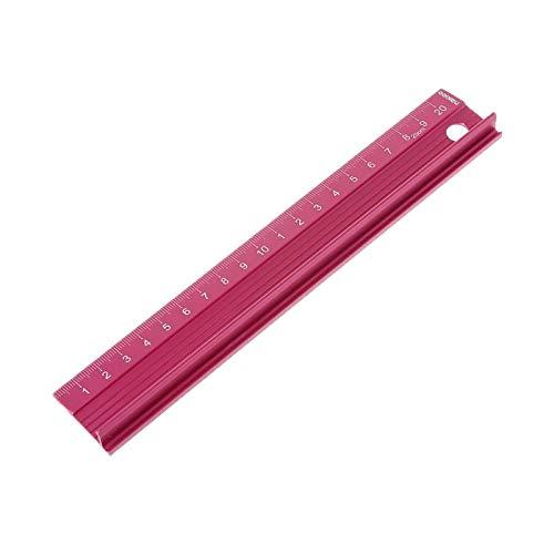 gobernante Ingenieros de medición de la escala de protección de la regla de aleación de aluminio profesional Ingenieros de medición Herramienta de dibujo 3 tamaños Para estudiantes niños