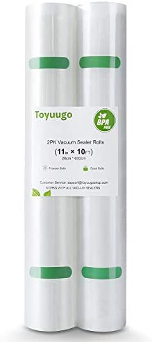 Toyuugo Vacuum Sealer Bags 2 Rolls Thicker Heavy Duty Commercial Quality Textured Vacuum Seal product image
