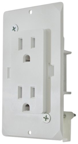 Diamond Group 313.1337 (WDR15WT White Speed Box Receptacle with Cover