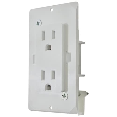 Rv Electrical Outlet >> Amazon Com Diamond Group Wdr15wt White Speed Box Receptacle With