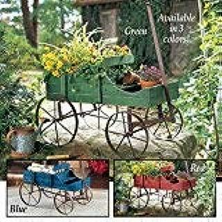 Blue Amish Wagon Decorative Garden Planter Blue Amish Wagon Decorative Garden Planter
