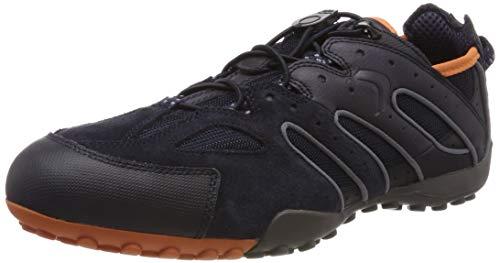 Geox Herren Uomo Snake J Sneaker, Blau (Navy/Orange C0820), 44 EU