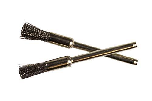 Weedness 2 x Bong-Siebkratzer 5,5 cm Edle - Köpfchenkratzer Siebbürste Stahl Pinsel Pfeifenkratzer Bongkratzer Pfeifen Zubehör Bong Zubehör Pfeifenbesteck