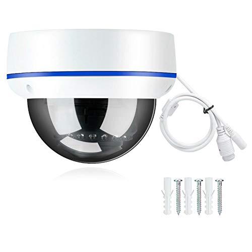 Cámara IP Impermeable HD PoE, cámara de Video de vigilancia Domo Compatible con ONVIF, cámara PoE de videovigilancia para Interiores y Exteriores con Audio(IP de 3MP)