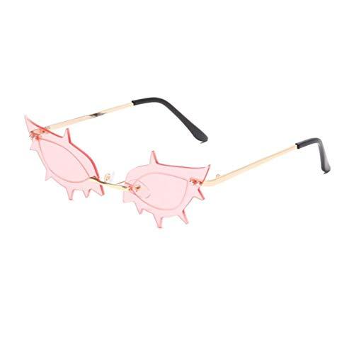 ZZOW Gafas De Sol De Mujer con Forma De Estrella De Mar Sin Montura Única Vintage, Gafas De Sol Transparentes con Lente De Océano, Gafas De Sol De Moda para Mujer, Sombras De Tendencia