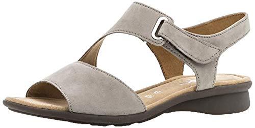 Gabor Comfort Damenschuhe 46.063.33 Damen Sandalette Sandale Leder (Nubukleder) Grau (Visone), EU 35