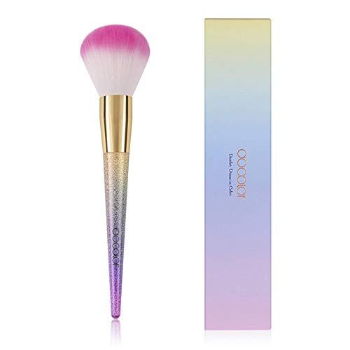 1 Pcs Foundation Brush - Poudre Maquillage Pinceaux, Pinceaux De Maquillage Fantasy Rainbow Avec Poignée De Dégradé, Meilleur Cadeau