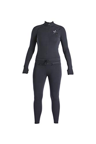 Airblaster Women's Standard Hoodless Ninja Suit Outdoor One Piece Base Layer, BLACK, Extra Large