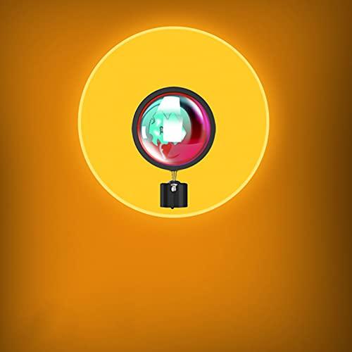 Lámpara De Proyección Sunset Luz LED, Experiencia Visual Romántica Atmósfera Lámpara No Deslumbrante Rotación De 180 Grados Cableado USB para Sala De Estar Dormitori Sun