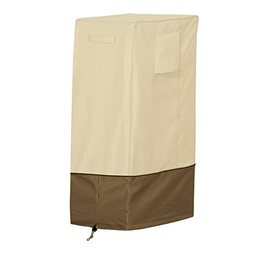 Classic Accessories 55-570-011501-00 Veranda Water-Resistant 26 Inch Square Smoker Grill Cover,Pebble,Square Large