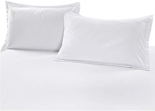 N Q 2 Pair Home Zippered Pillow Protector 2 Pack 19 x 29 100 Cotton White Pillow Encasement product image