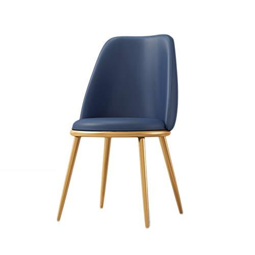 ZT silla simple estudiante escritorio y silla de maquillaje taburete para computadora de vuelta casa comedor silla durabilidad (color: azul)