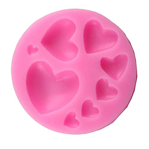 8 di cuore stampo durevole cottura della muffa lato utensile Decorazione per torta del fondente Zucchero a velo Handmade Soap