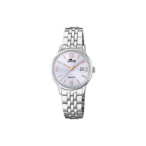 Lotus Damen Analog Quarz Uhr mit Edelstahl Armband 18698/3