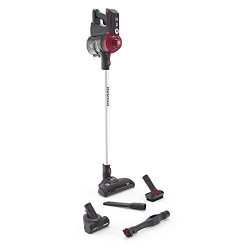 Hoover FD22RP011 Freedom Scopa Elettrica Senza Filo, ALLERGY & PETS, Autonomia 25 min, 0,7 Litri, Grigio e Rosso, 22w